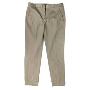 T Tahari gray/beige straight leg trouser pants